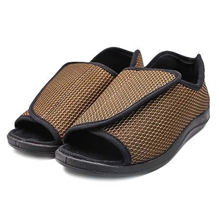Diabetici Pantofole, Anziani di Open Toe Sandals Ampia Fit