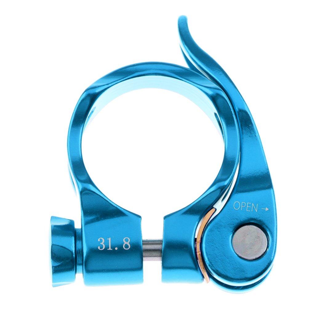 monkeyjackアルミニウム合金マウンテンロードバイク自転車シートポストクランプ31.8 MMクイックリリースシートポストクランプ B0784CHY4W 31.8mm|ブルー ブルー 31.8mm