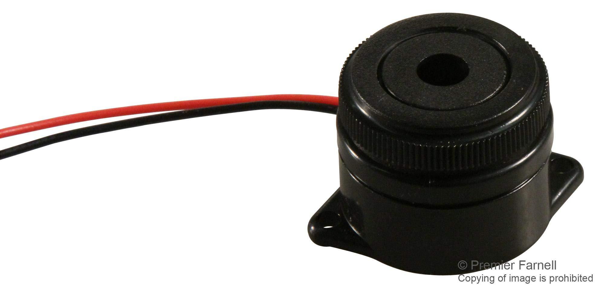 MCKPI-G2910L-3678 - Transducer, Piezo, Buzzer, Buzzer, Continuous, 3 V, 24 V, 15 mA, 95 dB (MCKPI-G2910L-3678) (Pack of 10) by MULTICOMP