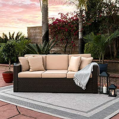 Best Choice Products 3-Seat Wicker Sofa