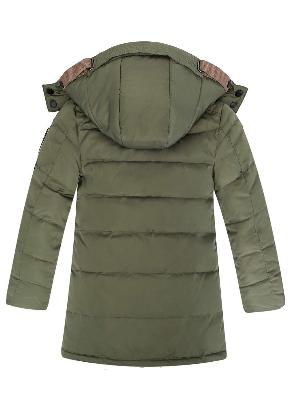 OUO Daunenjacke für Kinder kälteschutz Lange Jacke mit mit mit abnehmbar Kapuze B07JQ6VL7H Jacken Üppiges Design a6a4bc