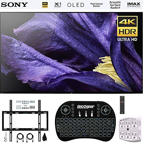 Sony XBR-55A9F 55″ 4K Ultra HD Smart BRAVIA OLED TV 2018 Model + Wireless Keyboard + Wall Mount Kit Bundle