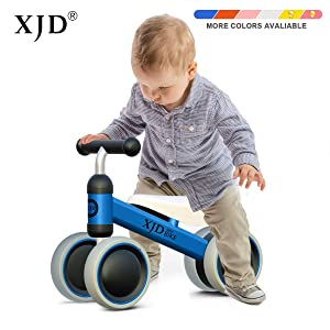 XJD Baby Balance Bikes Bicycle Children Walker Toddler Bike 10-24 Months Toys for 1 Year Old No Pedal Infant 4 Wheels First Birthday Gift Bike