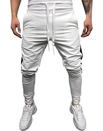 Pantalon Casual Slim Fit pour Hommes,Sport Pantalon Mode Hommes Fitness  Pantalons de survêtement Casual 5dc475d9ffc9