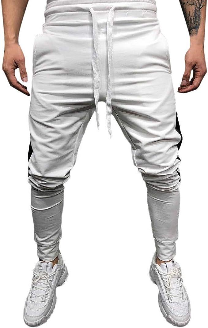 PantalóN para Hombre Sasstaids Casual Jogging AlgodóN ...