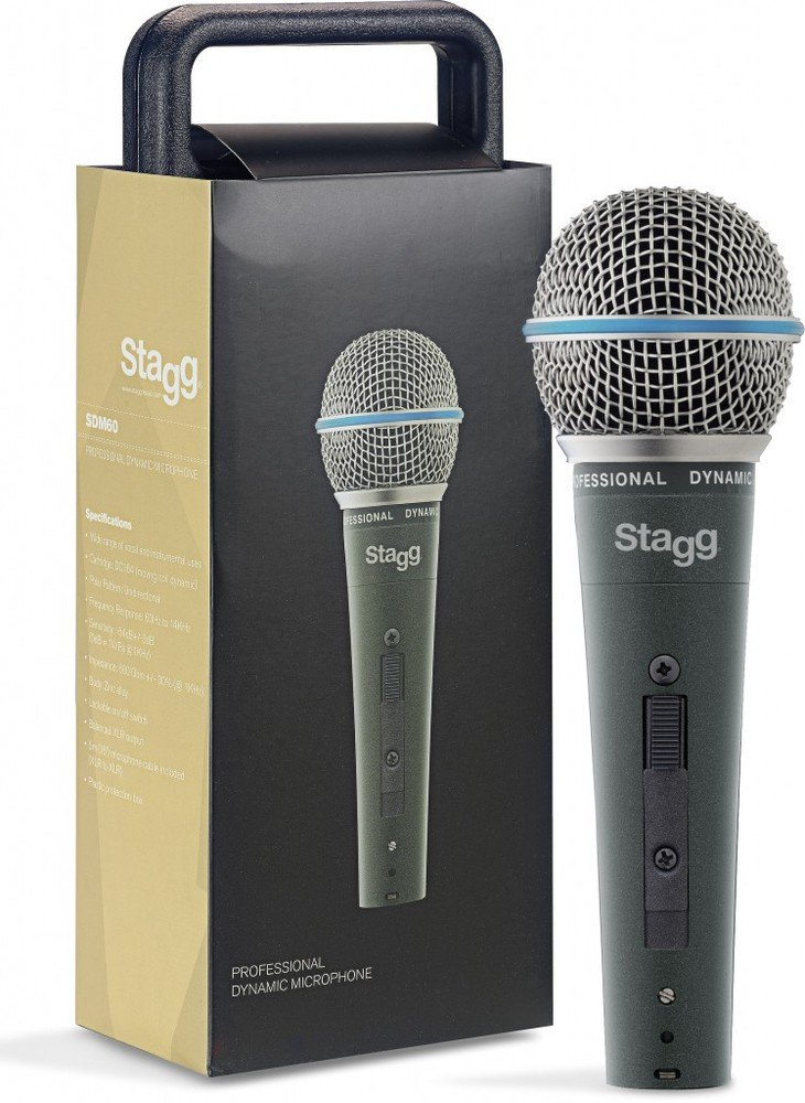 Stagg、SDM60、プロフェッショナルカーディオイドダイナミックマイク B0133EY6J0