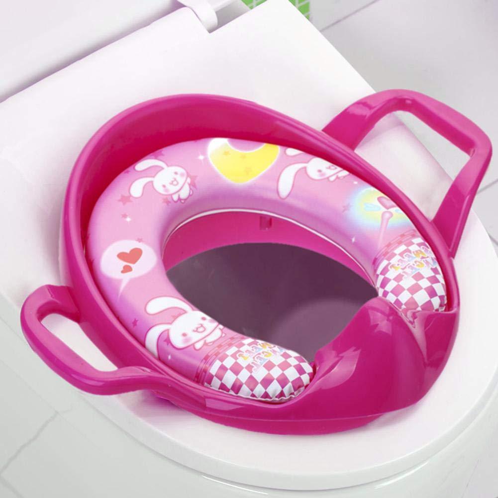 Rosa Roja ecotrumpuk Asiento para Beb/é Asiento De Inodoro Port/átil Cuidado Seguro Infantil Coj/ín Infantil