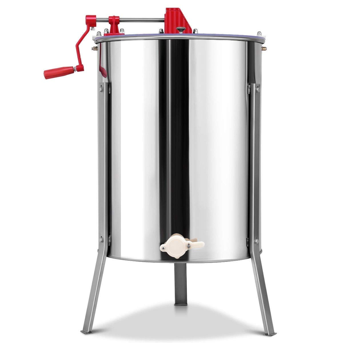 MD Group Stainless Steel Large 4/8 Frame Honey Extractor