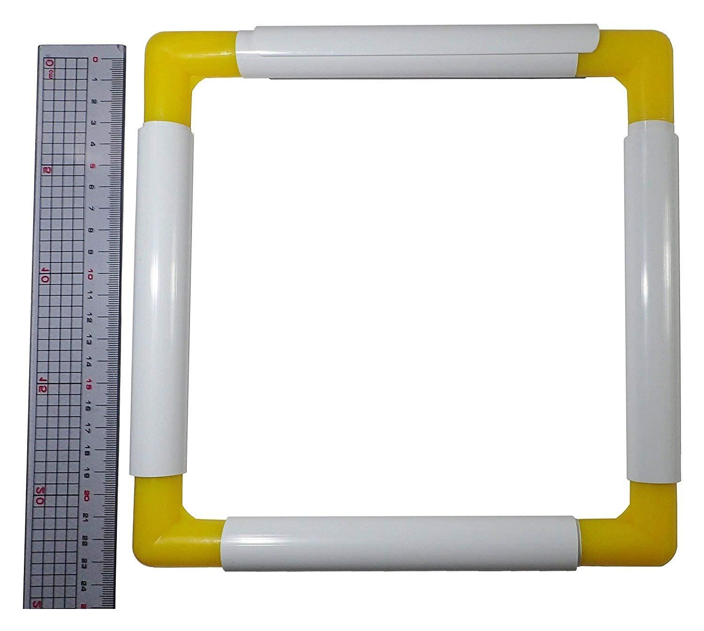 BaouRouge universali telaio quadrato per ricamo, quilting, punto croce, ricamo, pittura su seta, ecc - 15 centimetri x 15 cm BR-AC1