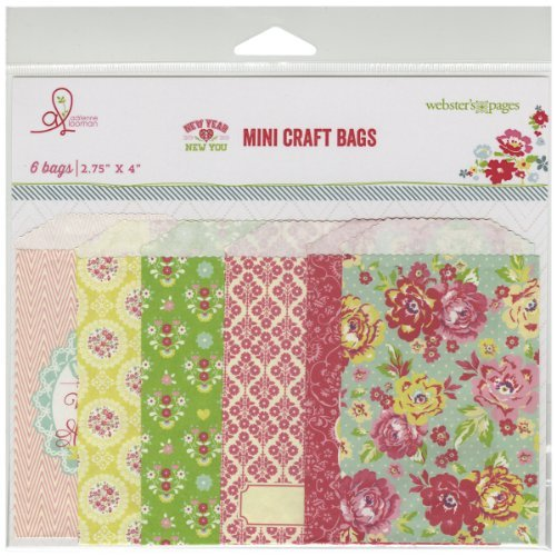 New Year, New You Mini Bags Assorted 2.75X4 6/Pkg- by Webster's - Webster Mall