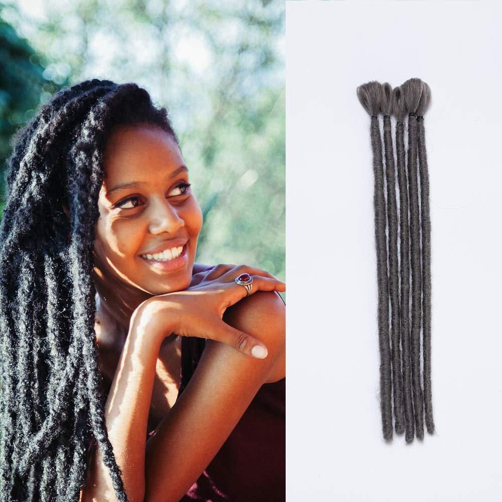 SEGO Dreadlock Extension Double Ended [Rosa] 5 Pezzi Treccine Rasta Dread Braiding Hair da Donna Capelli Lunghi Sintetici Fibre Crochet 50cm 20 Inch Lady Outlet Mall