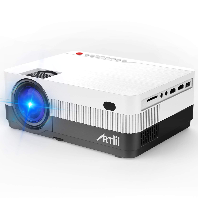 Proyector Portátil HD, Artlii LED Proyector con 2800 Lúmenes, soporta 1080p Full HD, HDMI x2 /AV/USB/VGA/SD Conexiones