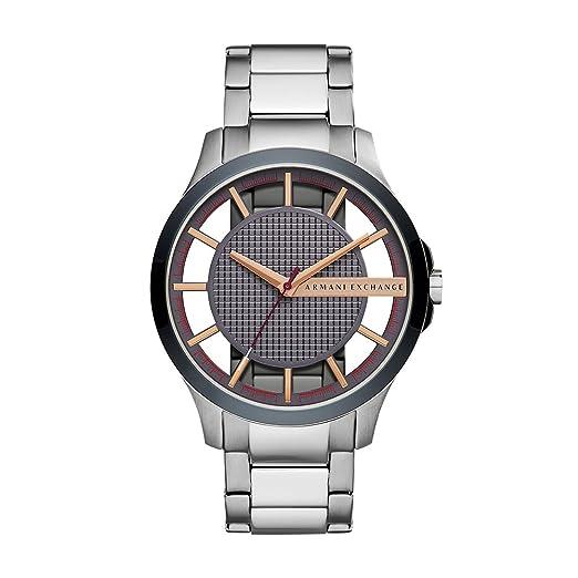 00cdc78da2c1 Armani Exchange Reloj Analógico para Hombre de Cuarzo con Correa en Acero  Inoxidable AX2405  Armani Exchange  Amazon.es  Relojes