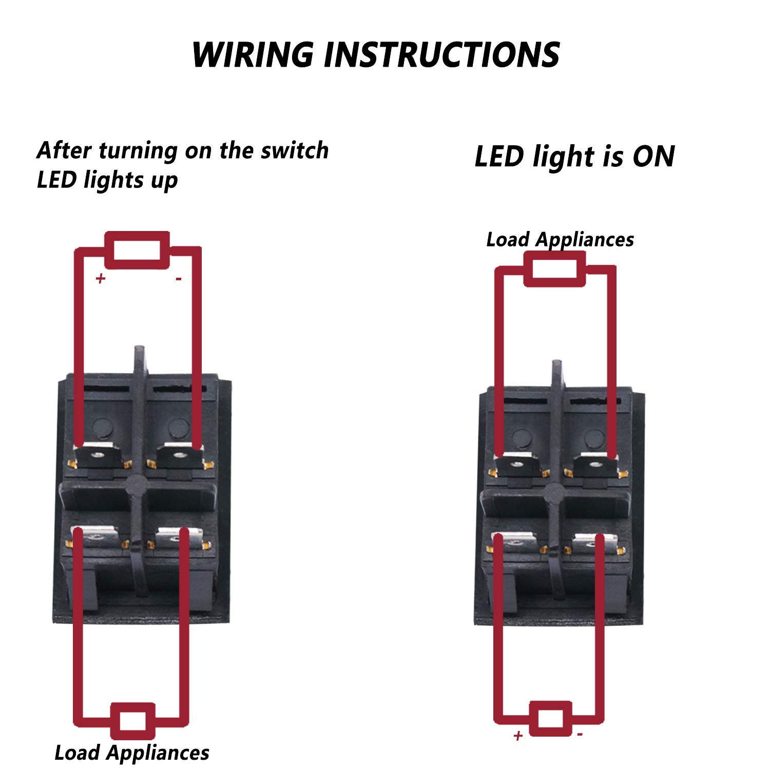 Twidec 2pcs Ac 20a 125v 15a 250v Dpst 4 Pins 2 Position On Off Green And Red Led Light Illuminated Boat Rocker Switch Toggle Quality Assurance For 1 Years Kcd2 201n Rg Amazon Com Industrial Scientific