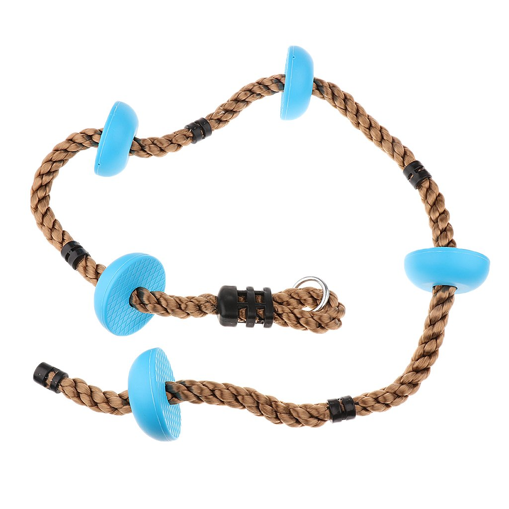 Jili Online Climbing Rope with 5 Plastic Knots for Kids Children Climbing Outdoor Sports Game- Blue