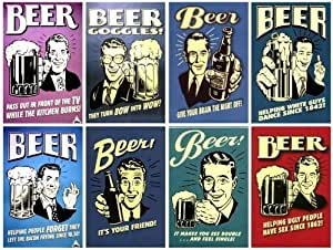 Lot 8 Pcs Beer Funny Saying Fridge Magnet Home Decor (Funny Gift) - No.2
