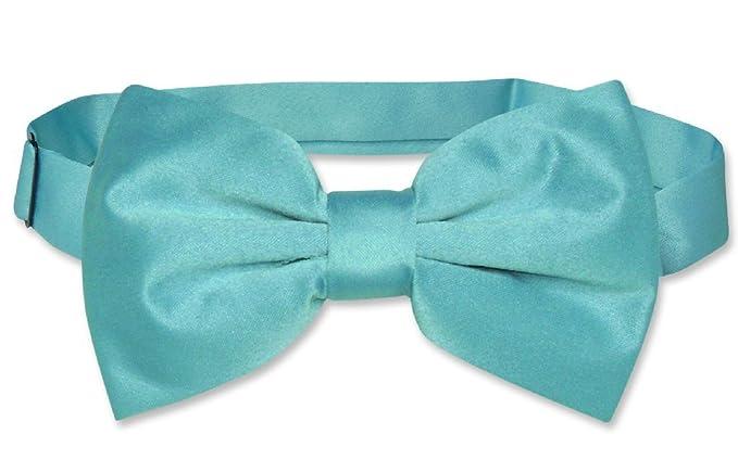 3e72f73a1595 Image Unavailable. Image not available for. Color: Vesuvio Napoli BOWTIE  Solid TURQUOISE BLUE Color Men's Bow Tie ...