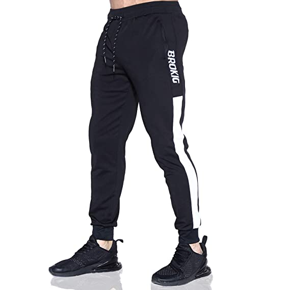 EK - Pantalones de chándal para Hombre con Paneles Laterales ...