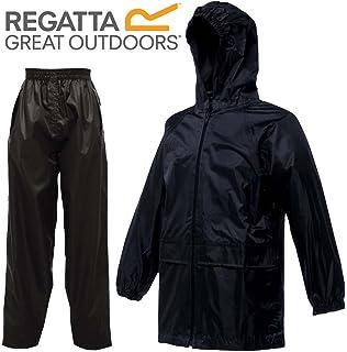 92ac2786e1b Regatta Kids Waterproof Jacket   Trousers Suit Boys Girls  Amazon.co ...