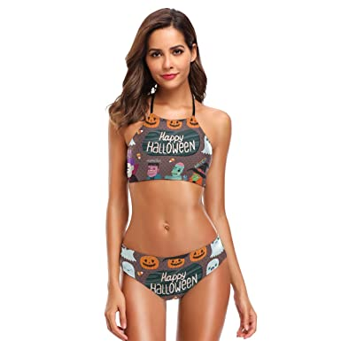 df4d62c72a2c Amazon.com  LORVIES Womens Halloween Monster and Zombie Bikini Set ...