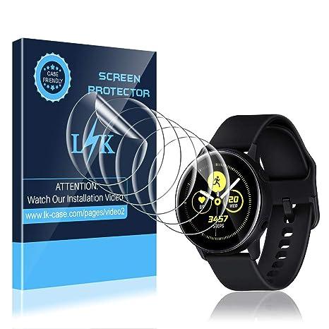 LK Protector de Pantalla para Samsung Galaxy Watch Active 2 (40mm) / Galaxy Watch Active Protector de Pantalla, [6 Unidades] [Admite la función de ...