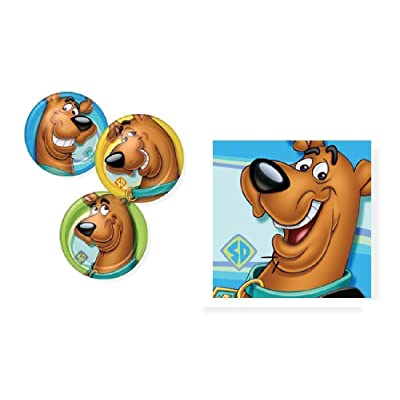 Scooby Doo! Birthday Party Tableware Bundle Pack Plates and Napkins for 16 Guests: Toys & Games