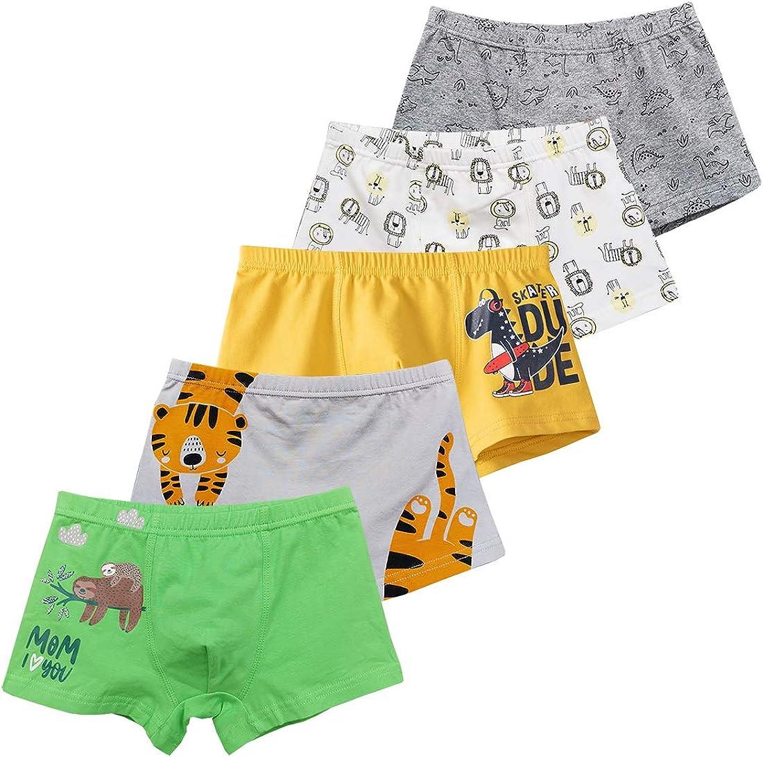 Cotton Boxer Briefs Pack of 5//10 Dinosaur 2-9Y CHUNG Toddler Little Boys Underwear Soft Modal