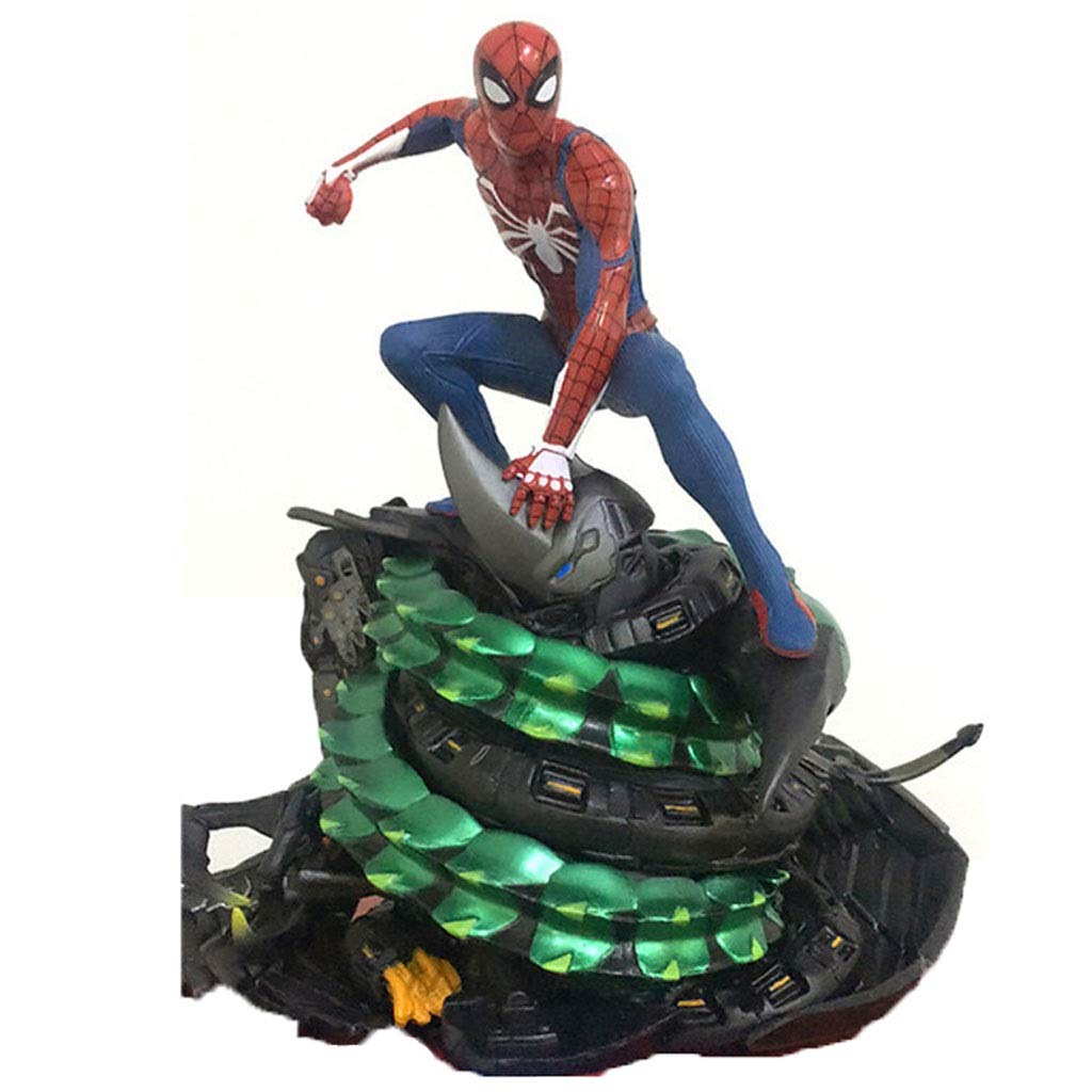 LLDDP Anime Model Anime Statue Avengers Spiderman Anime Model Boxed Decoration Children's Toys Collection 19cm