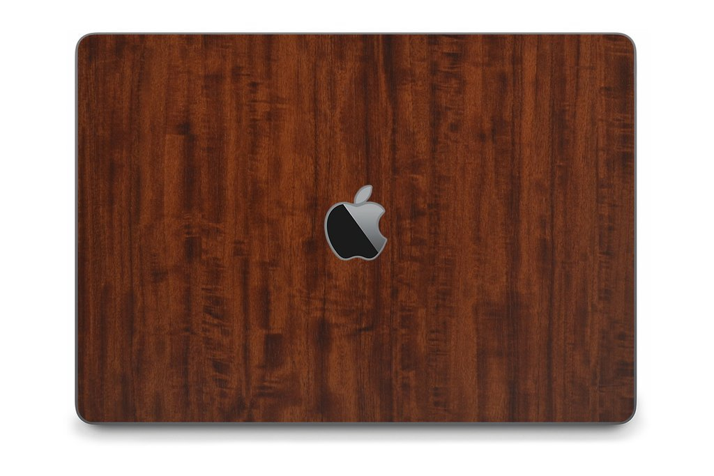 iCarbons Dark Wood Skin Wrap for MacBook Pro 15'' (Late 2016-Current, With Touchbar) Full Combo