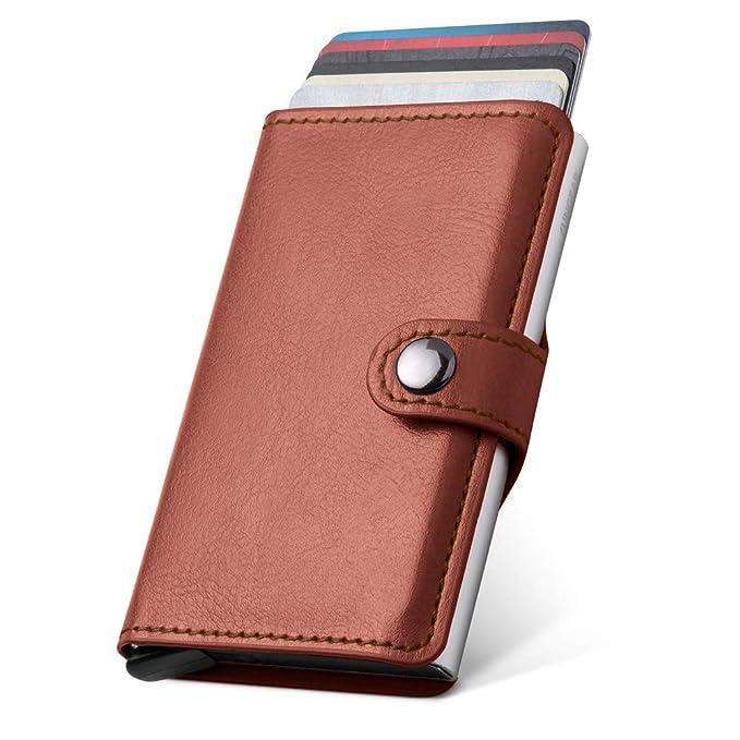 Amazon.com: LunGear - Funda de piel para tarjeta de crédito ...