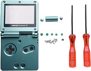 SPDYCESS Reemplazo Cubierta de Carcasa Cover Pantalla Espejada de Plástico Proteccion X Y Destornillador para Game Boy GBA SP