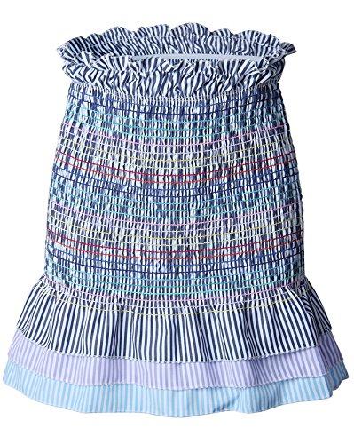 - Arctic Cubic Highwaist Ruffled Ruffle Hem Shirred Ruched Pleated Rainbow Striped Stripe Mini Bodycon Fishtail Mermaid Skirt S