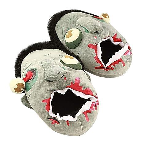 algodón Vovotrade ♧ divertidas de Zapatillas Zombie QdxoWBErCe