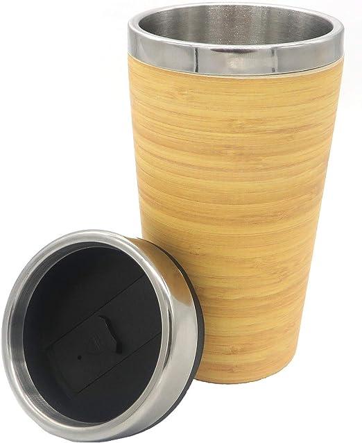 Termo de Bambu ♻ Vaso Termico Café para Llevar - Taza Ecologica ...
