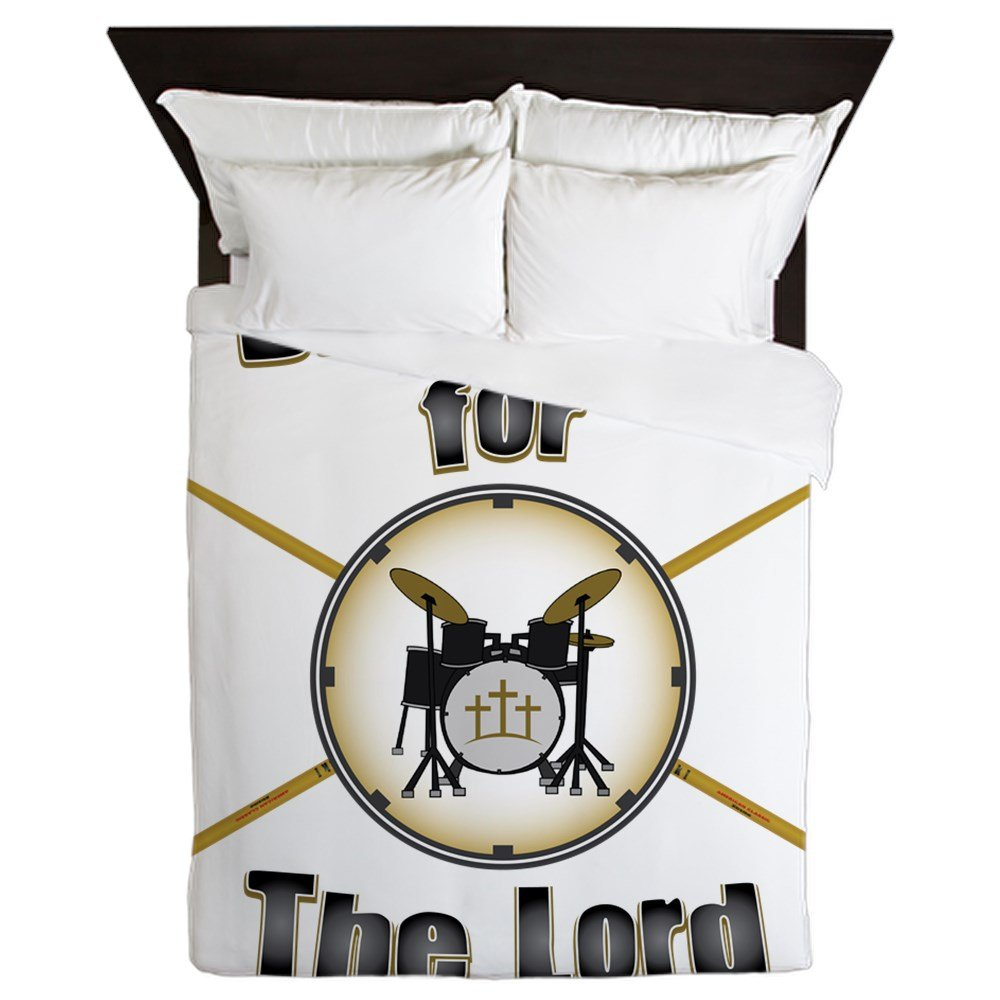 CafePress - Drumming For The Lord - Queen Duvet Cover, Printed Comforter Cover, Unique Bedding, Microfiber by CafePress