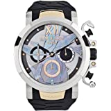 Mulco La Fleur Ave del Paraiso Swiss Chronograph Quartz Movement Women's Watch | Mother of Pearl Swarovski Sundial Rose Gold Accents | Silicone Watch Band | Water Resistant
