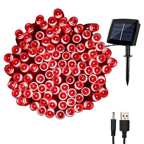 Red Solar Led String Lights - 7