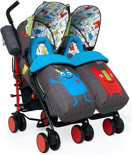 Cosatto - Silla De Paseo Gemelar Cosatto Supa Dupa Twin Stroller Monster  Mob Gris: Amazon.es: Bebé
