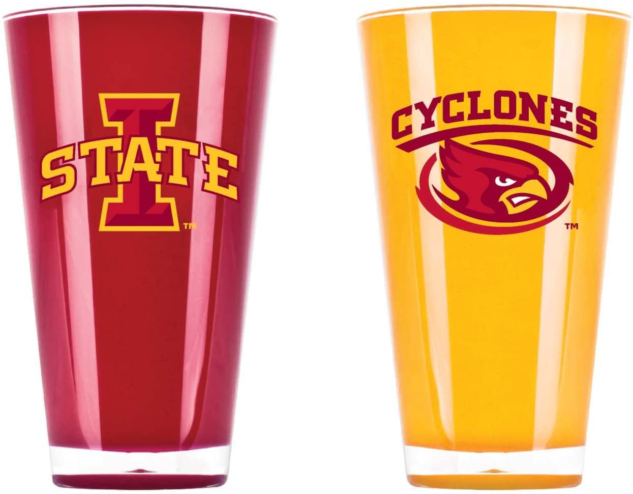 NCAA Iowa State Cyclones 20oz Insulated Acrylic Tumbler Set of 2