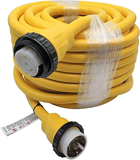 RV Extension Cord Power Supply Cable 75 FT 50 Amp Weatherproof Marine Shore