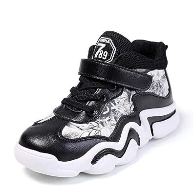 Zapatillas de Deporte de Baloncesto para niños con Top Velcro ...