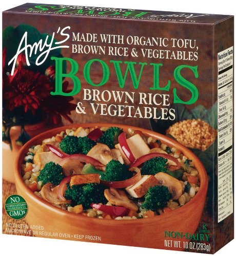 Amys Organic Brown Rice and Vegetables Bowl, 10 Ounce -- 12 per case