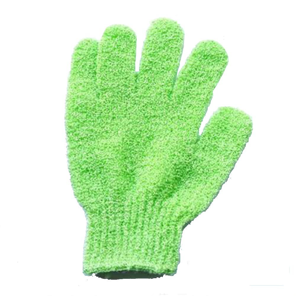 Tcplyn Body Scrubbing Glove Bath Massage Scrubs Double Sided Exfoliating Gloves Skin Body Wash Scrubber Cleaning Gloves,Green