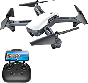 GPS Drones, Potensic D50 Quadcopter with Camera Live Video, GPS Return Home, Follow Me, Long Control Range, 5G WiFi Transmission, Great Gift