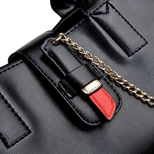 A Ricamano Labbra Moda Grande Borsa Donne Una Di Spalla Portatile Black Diagonale Le 5wqvZUx