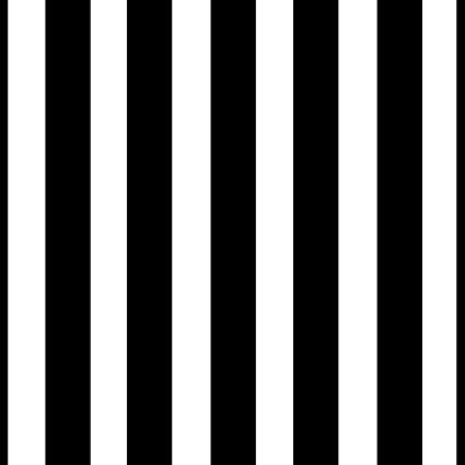 Modern Classic Black White Striped Wallpaper Unpasted Roll   Inch X