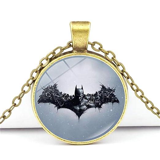 WooMaxX - Collar con colgante de Batman para hombres, niñas ...