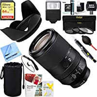 Sony FE 70-300mm F4.5-5.6 G OSS Full-frame E-Mount Lens (SEL70300G) + 64GB Ultimate Filter & Flash Photography Bundle