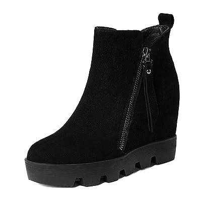 Heel Herbst Erh Stiefelleder Schuheplattform Damen ht High gbf7yY6