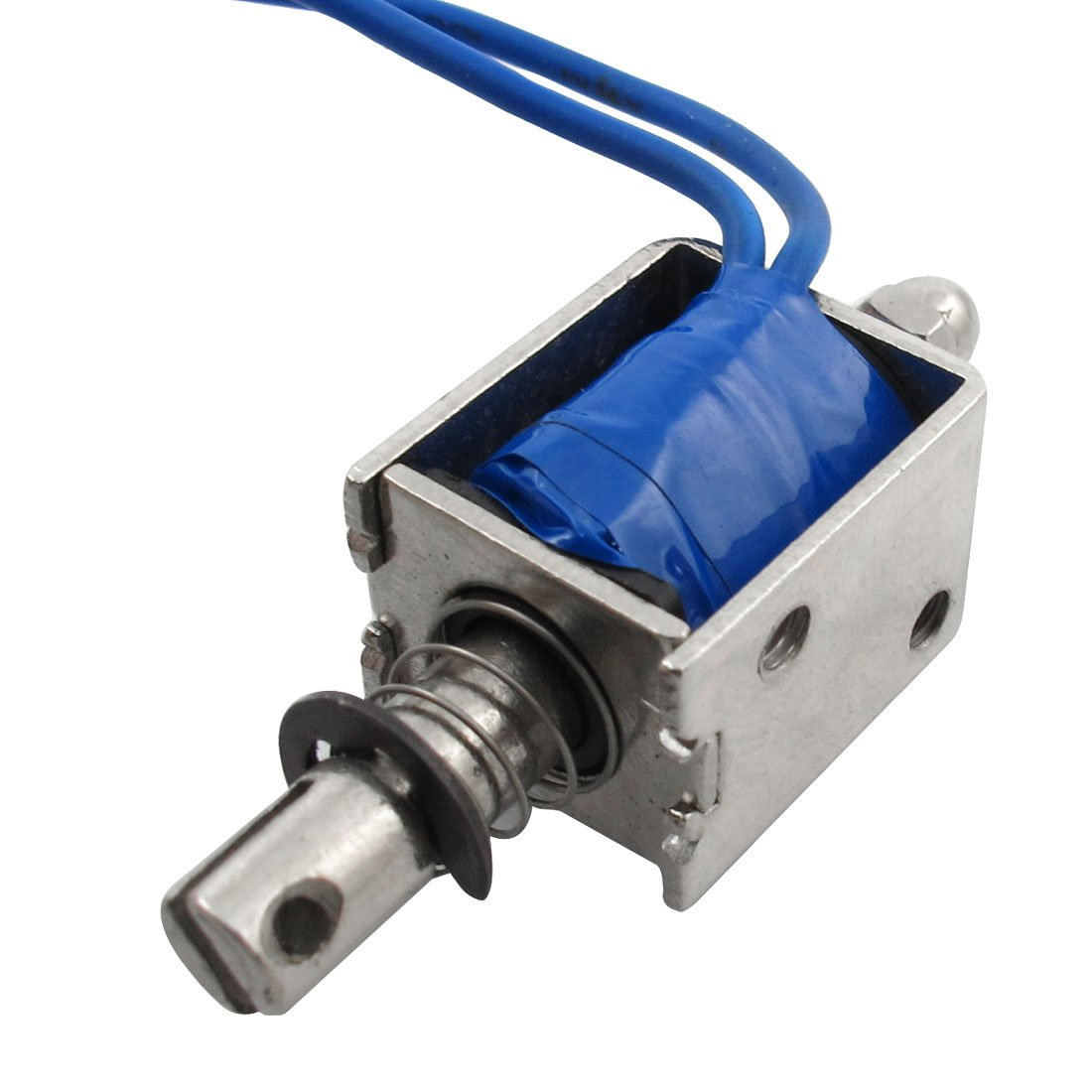 DC 12V 500mA Open Frame Push Type Solenoid Electromagnet 7mm Stroke Sourcingmap a12092000ux0151